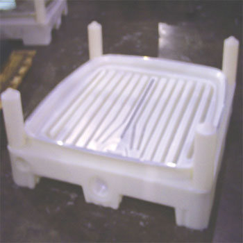 Material Handling Pallet, Durable Material Handling Pallet, Super Sack Pallet, Material Handling, Bulk Storage Bag, Super Sack Storage, IBC Pallet, Spill Containment Pallet, Rotational Molding Pallet, Roto Molded Material Handling Parts, Rotationally Molded Product, Rotational Molding