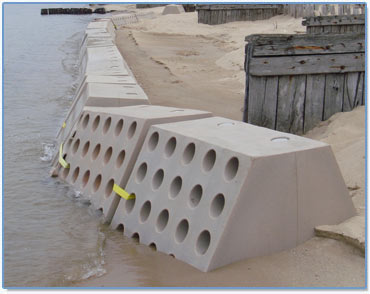 Sandsaver, Beach Erosion Barrier, Rotomolded Beach Erosion Barrier, Natural Beach Renourishment product