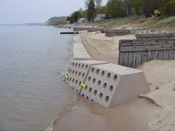 Sandsaver Module Installed, Natural Solution to Beach Erosion