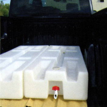 Water-Mate, Water Tank, Potable Water Tank, Off Road Water Tank, RV Water Tank, Truck Water Tank, Poly Water Tank, Plastic Water Tank, Low Profile Water Tank, Roto Molded Water Tank, Rotationally Molded Water Tank, Rotationally Molded Product, 6' Long Water Tank, 6.5' Long Water Tank, 8' Long Water Tank, Up to 60 Gallons Water Storage, Weight Ballast, Inclement Weather Weight, replaces sandbags, weight-mate, watermate, weightmate
