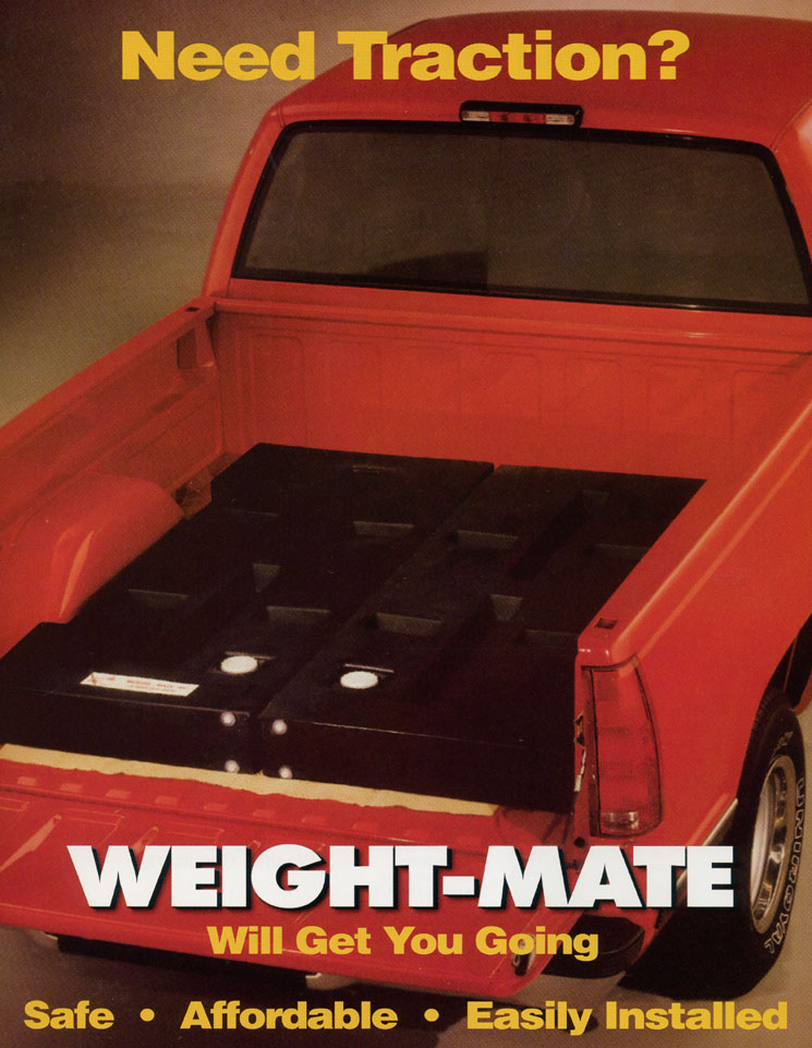 weight mate inclement weather ballast traction for pick up trucks. Black Bedroom Furniture Sets. Home Design Ideas
